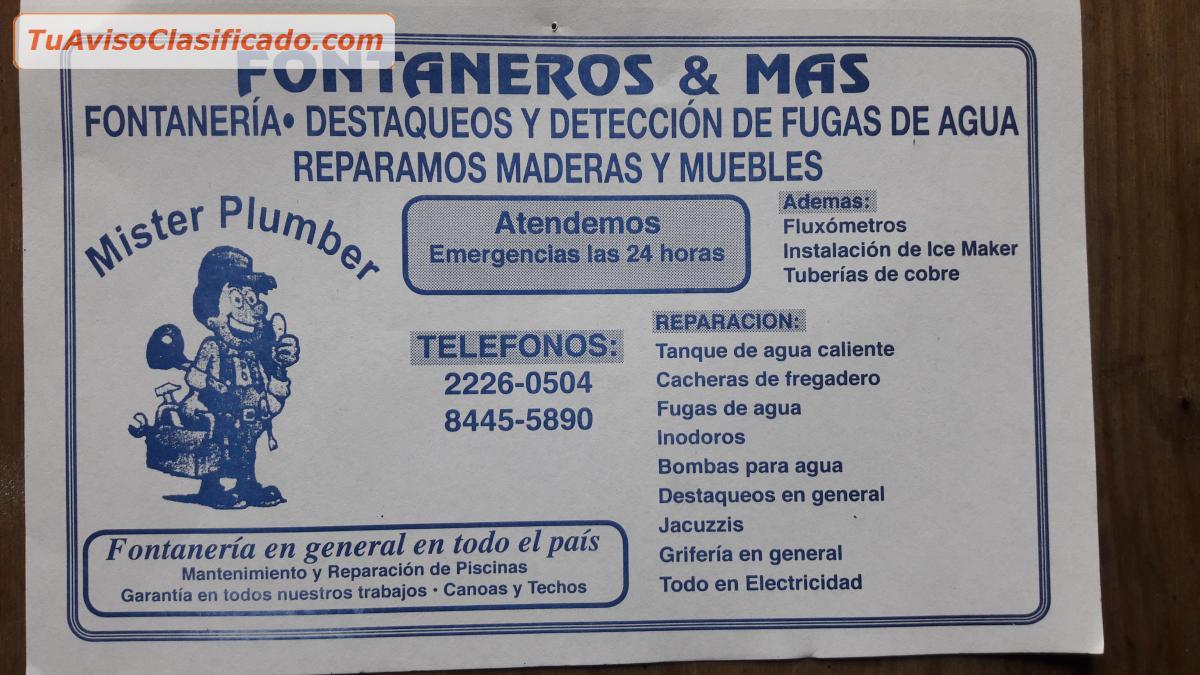 Mister plumber fontaneria servicios y comercios profesional - Deteccion de fugas de agua en piscinas ...