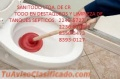 Destaqueo de tuberias y limpieza de tanques septicos 2235-7102