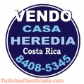 Vendo Casa Heredia Costa Rica Tel: 8408-5345