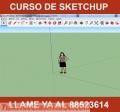 Clases de SKETCHUP MODELADO 3D $100,00